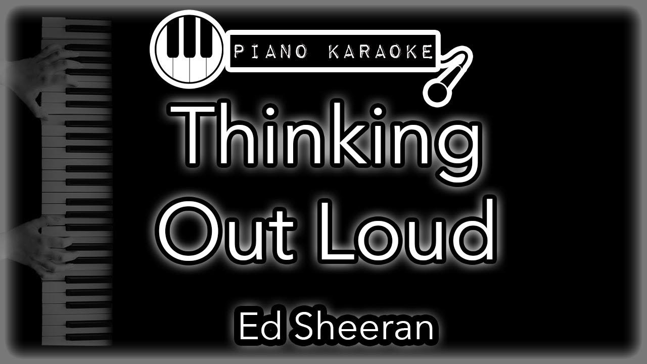 Thinking Out Loud   Ed Sheeran   Piano Karaoke Instrumental