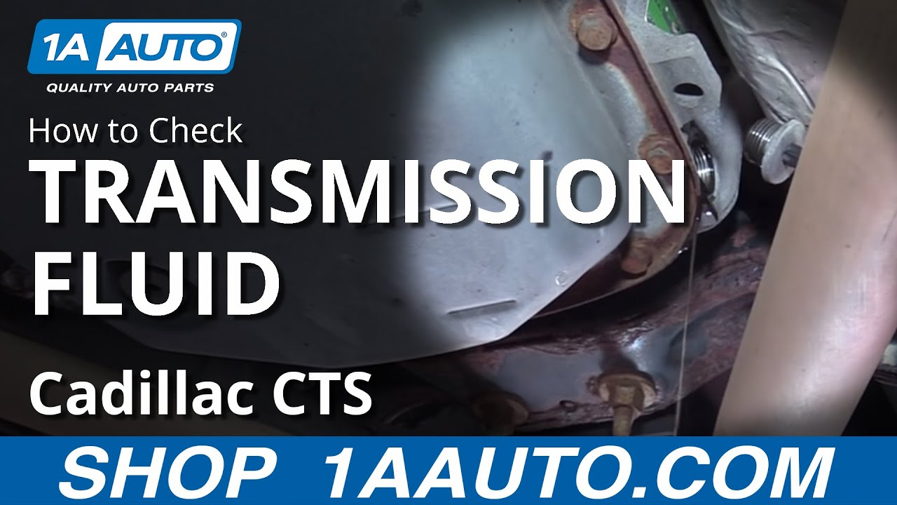 how to check your transmission fluid 03 07 cadillac cts [ 1280 x 720 Pixel ]