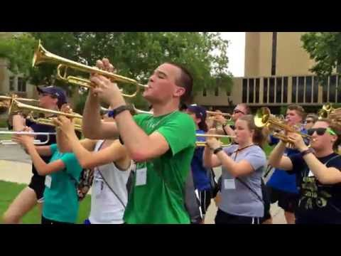 Notre Dame Marching Band 1st March out of the 2016 school year.