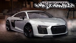 NFS Most Wanted | Vorsteiner Audi R8 V10 Plus Mod Gameplay [1440p60]