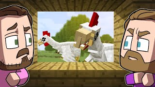 Defending Our Village From GIANT CHICKENS!   Minecraft