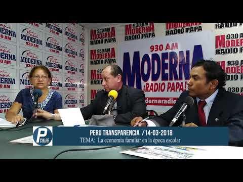 Peru Transparencia 14-03-2018/LA ECONOMÍA FAMILIAR EN LA EPOCA ESCOLAR