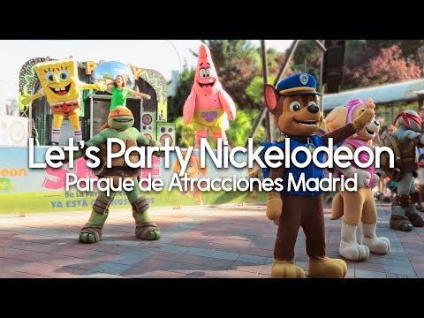 Let's Party Nickelodeon - Parque de Atracciones Madrid 2017