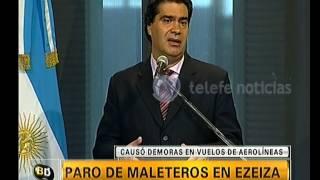 Capitanich habla sobre el paro de maleteros -Telefe Noticias