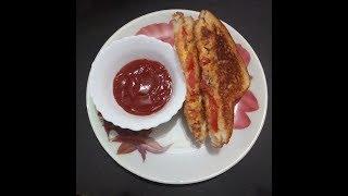 Cheese tomato sandwich/ EASY N CHEESY TIFFIN RECIPE AND TEA TIME SNACKS/चीज़ टोमेटो सेंडविच