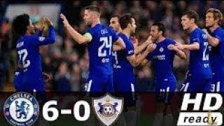 Chelsea VS Qarabag 6-0 Extended Highlights & Goals - Champions League 12 Sep 2017