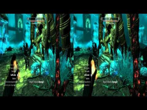 The Elder Scrolls V : Skyrim 3D Stereoscopic Gameplay, Exploring Dwemer Undercity