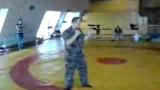 Борьба. Подводящие упражнения для защиты от удара ножом сверху