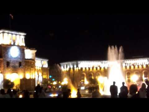 Музыкальные танцующие поющие фонтаны - Ереван, Армения