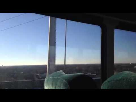 Skyway west into Chicago, Indian Trails Bus M-111, 12-28-20