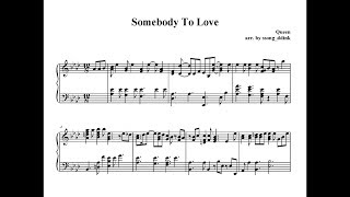 Somebody To LoveQueen Piano cover, Sheet music, Bohemian Rhapsody OST