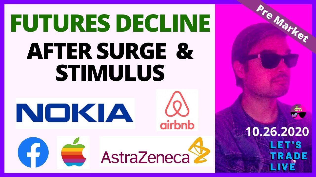 Nokia, Apple, Astrazeneca, Airbnb= Stocks Pre Market