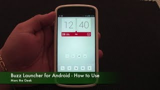Buzz Launcher for Android - How to Use