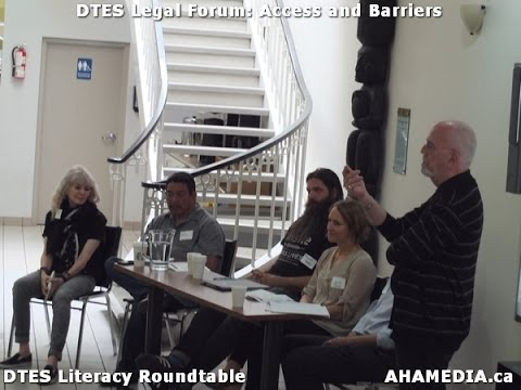 DTES Legal Forum on Access and Barriers in Vancouver Downtown Eastside DTES