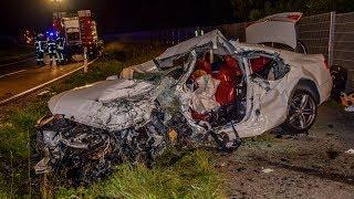 TÖDLICHER FRONTALCRASH - [PORSCHE CONTRA AUDI] - Schlimmer Einsatz für Feuerwehr- & Rettungskräfte