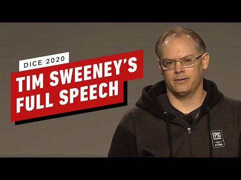 Tim Sweeney's Full DICE 2020 Talk