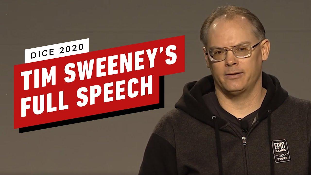 Présentation complète de Dice 2020 de Tim Sweeney + vidéo