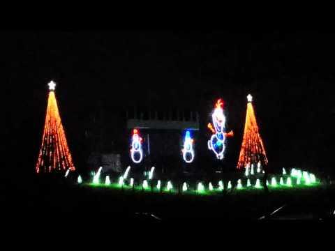 Christmas lights Fond du lac Wisconsin 2015  Pt 1