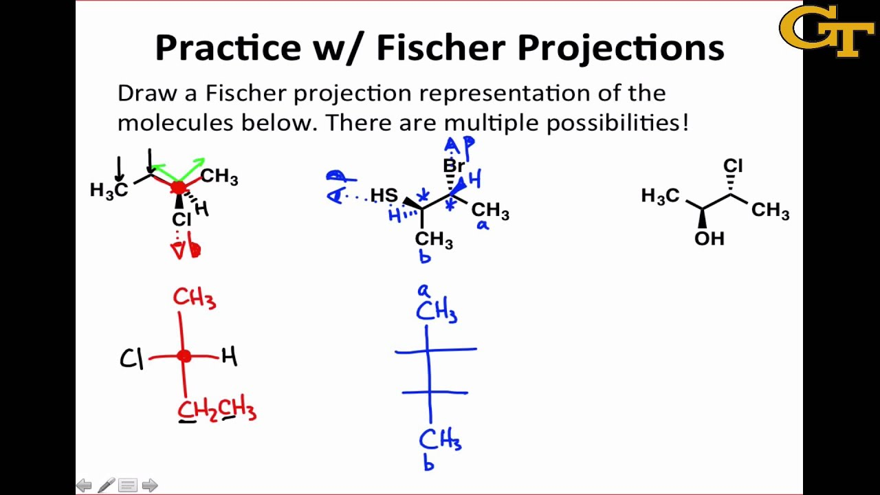 Line Drawing How To : Practice with fischer projections youtube