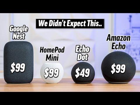 HomePod Mini vs Echo vs Nest - Smart Speaker Comparison!