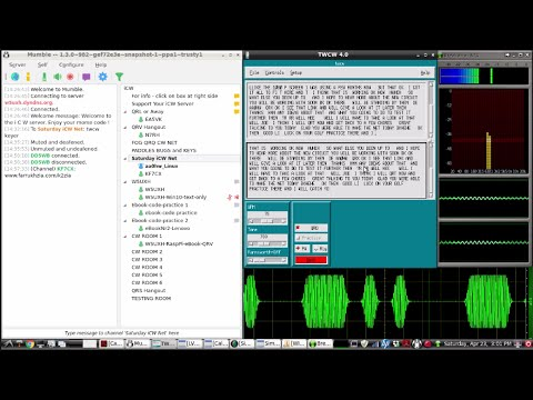 QRQ CW : Live recording of an online morse code qrq cw net for 4-23-2016