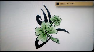 Como dibujar un trebol tribal - Art Academy Atelier Wii U | How to draw a tribal clover