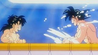 Dragon Ball Z - Goku Y Gohan Se Dan Un Baño En La Habitación Del Tiempo