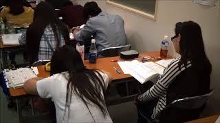 Фрагмент урока в школе японского языка МСА Токио