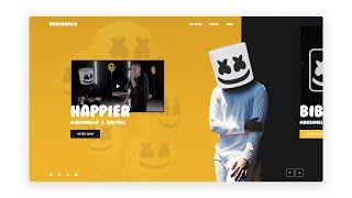 Adobe XD MARSHMELLO Website Design - Speed Art