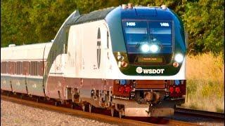 New CHARGER Locomotives on Amtrak Cascades Trains!