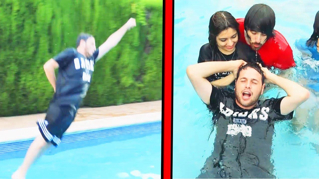 Imitando peliculas debajo del agua 7 seconds challenge for La piscina pelicula