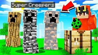 Minecraft but I added Custom Creepers