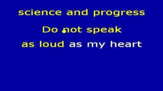 The Scientist (karaoke) - in the style of Coldplay