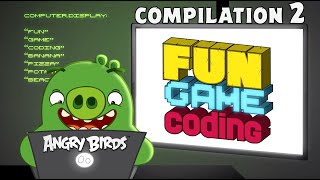 Angry Birds Fun Game Coding | Compilation 2
