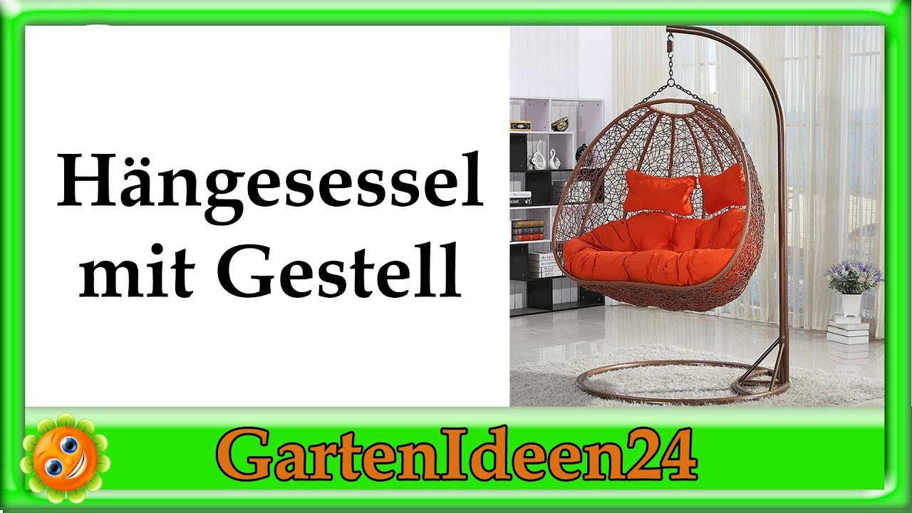 h ngesessel mit gestell gatenidee sch ne h ngesessel f r outdoor und wohnzimmer youtube. Black Bedroom Furniture Sets. Home Design Ideas