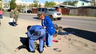 ДТП на улице Панфилова. Мотоциклист врезался в машину