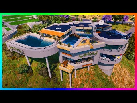 BIGGEST BILLIONAIRE GTA 5 MANSION EVER + MORE MEGA LUXURY HOUSE MODS, HUGE VILLAS & MORE! (GTA V)