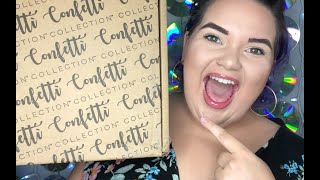 October Confetti Collection Box   MONTHLY STATIONARY SUBSCRIPTION BOX UNBOXING