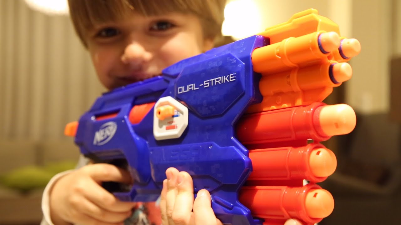 Cool Guns Toys For Boys : Fun great nerf gun toy dual strike toys for big boys