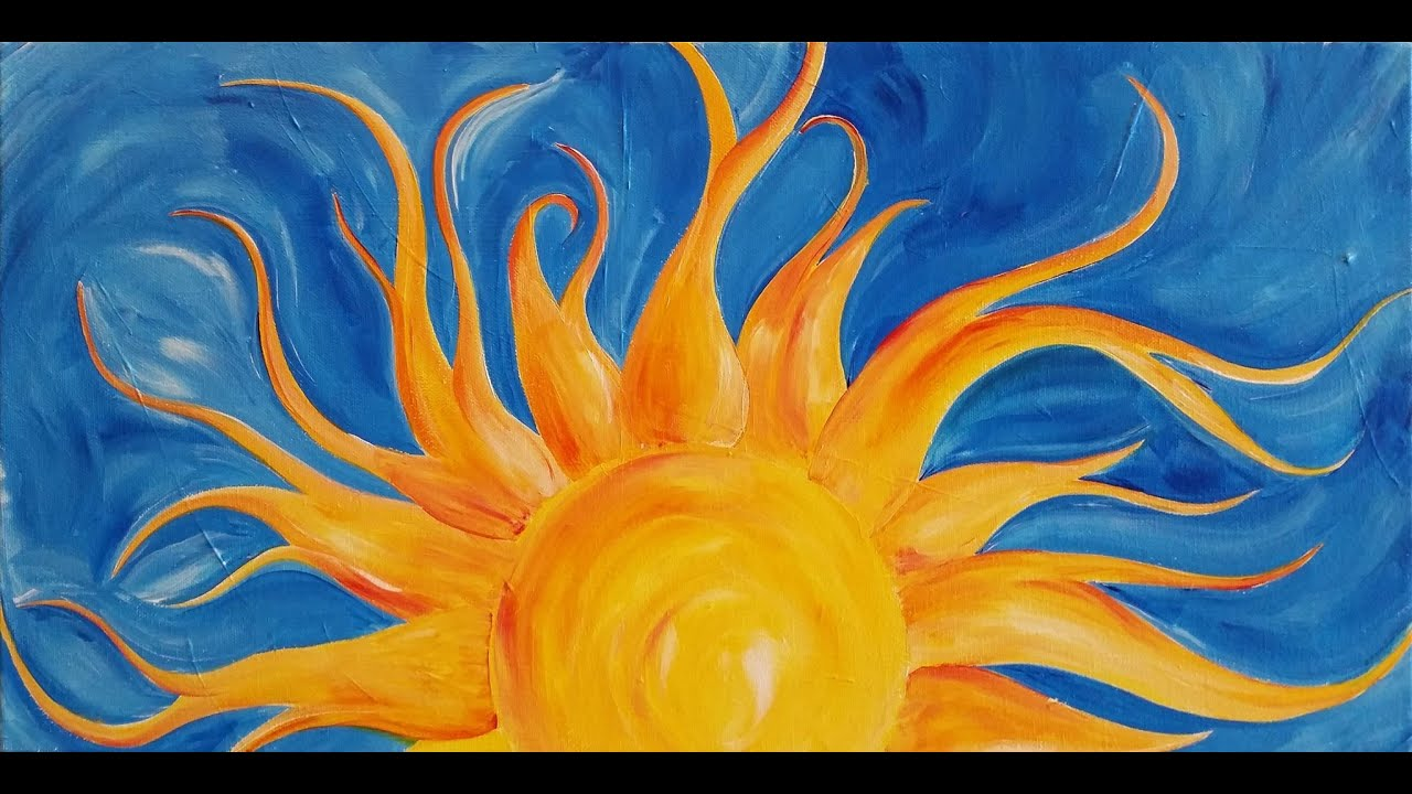 LoveSpringArt Sunshine Step By Acrylic Painting On Canvas For Beginners