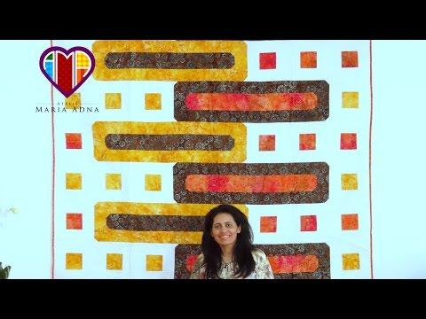 Manta colcha ou panô em patchwork  Lausanne - Maria Adna Ateliê - Cursos e aulas de patchwork