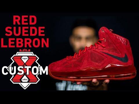 Red Suede LeBron Sample Custom