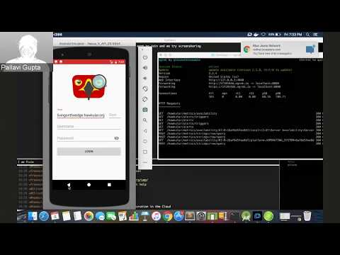 Updates by Pallavi about her work on Hawkular Android Client