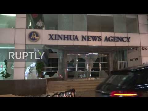 Hong Kong: Protesters attack Chinese news agency Xinhua's offices