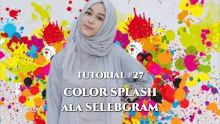 #27 Tutorial Edit Background Foto COLOR SPLASH ala Selebgram | PicsArt Editing Tutorial