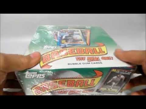 1990 Topps Baseball Cards Case Unboxing Video Frank Thomas Rookie