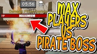 MAX PEOPLE IN PIRATE ISLAND HARDCORE MODE DUNGEON QUEST!! (Roblox)