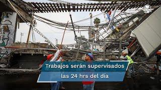 Autoridades del Metro informaron que los trabajos son supervisados por personal de la gerencia de obras y mantenimiento del STC y se realizarán de forma continua las 24 horas del día