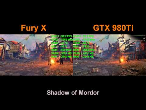 FPS Battle - AMD R9 Fury X vs GTX 980 Ti  [1080p Benchmark]