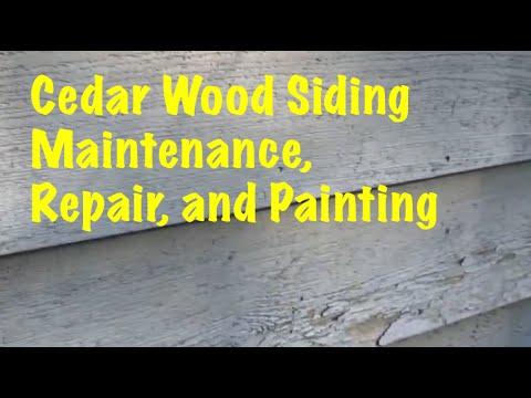 Easy Cedar Wood Siding Maintenance Repair And Painting